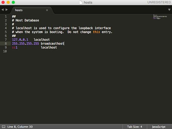 MacOS系统hosts文件